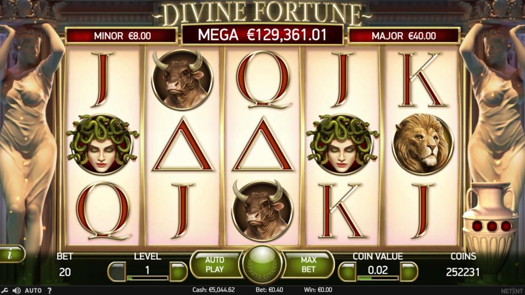Общий дизайн и основная информация о слоте Divine fortune