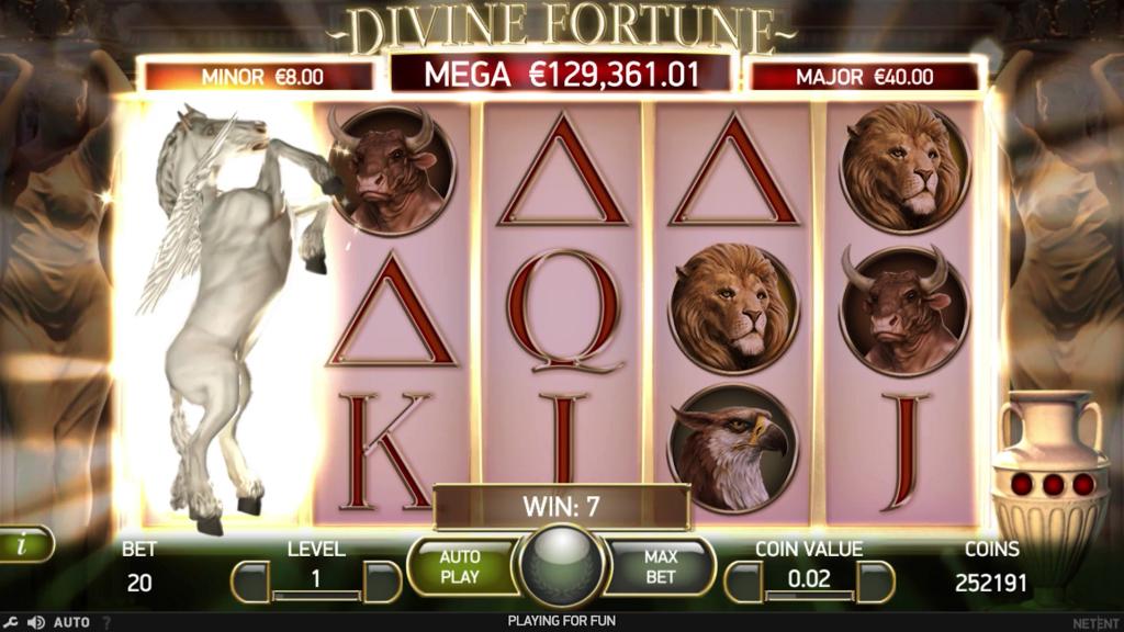 Бонусные функции игрового автомата Divine fortune