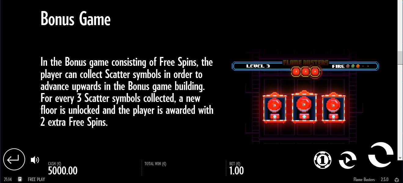 Бонусные функции игрового автомата Flame busters