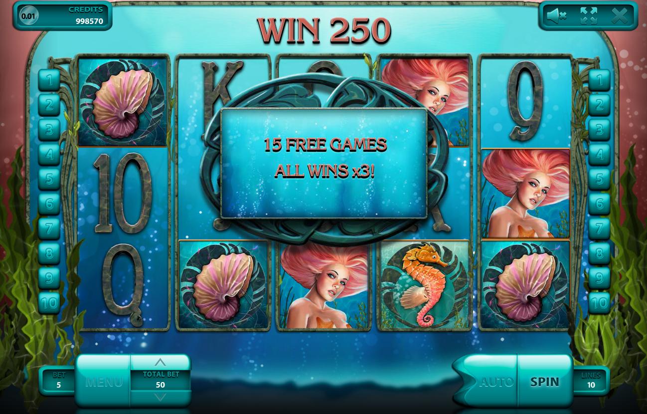 Бонусные функции игрового автомата Undines's deep