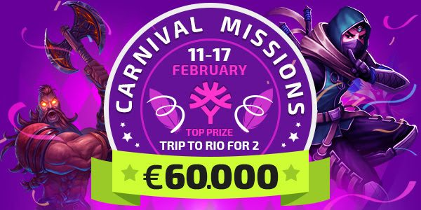 Карнавальные миссии от компании Yggdrasil с банком €60,000 уже стартовали!