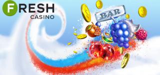 Салют из бездепозитных бонусов ко Дню России в казино FRESH