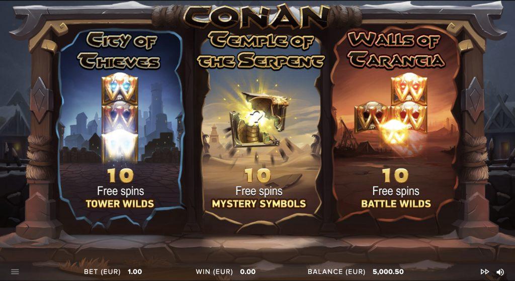 Краткий обзор игрового автомата Conan от провайдера NetEnt