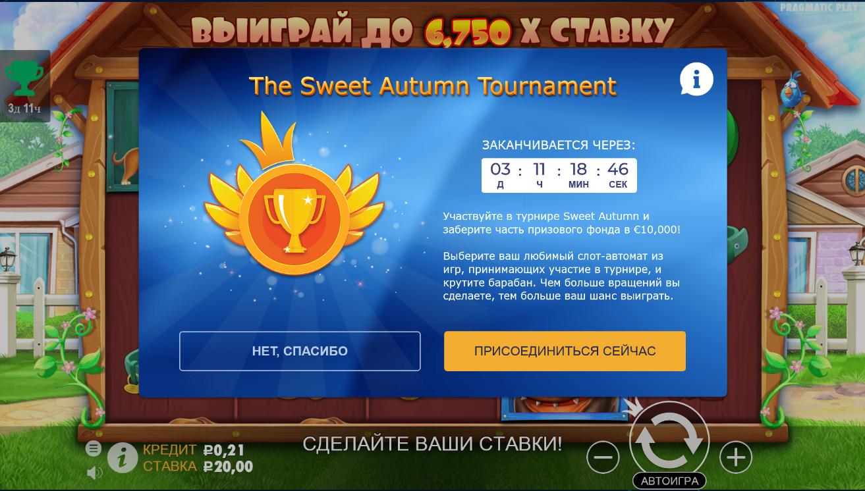Денежный турнир Sweet Autumn от Pragmatic Play – как стать участником?