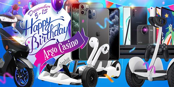 День рождение Argo Casino и праздничные акции для игроков