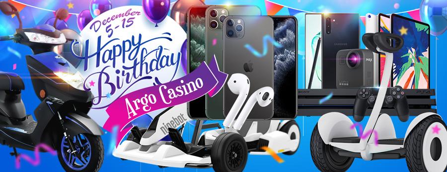 День рождение Argo Casino - как принять участие в юбилейной акции?