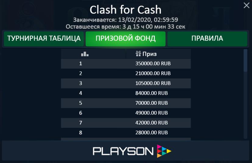 Денежная гонка Clash For Cash от Playson – как стать участником?